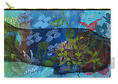 Carry-all Pouch featuring the painting Jardine Cat by Robin Maria Pedrero