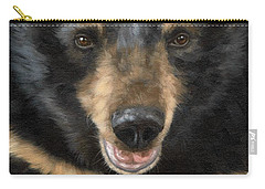 Jasper Moon Bear - In Support Of Animals Asia Carry-all Pouch by Rachel Stribbling