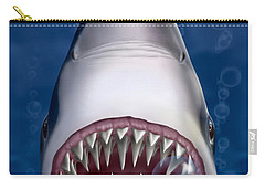 Jaws Great White Shark Art Carry-all Pouch