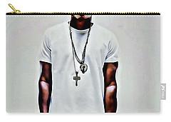 Jay-z Portrait Carry-all Pouch by Florian Rodarte