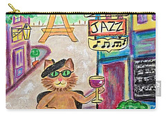Jazz Cat Carry-all Pouch by Diane Pape
