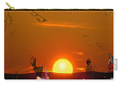 Carry-all Pouch featuring the digital art Jazz Fest by Cathy Anderson