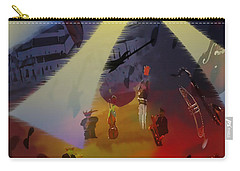 Carry-all Pouch featuring the digital art Jazz Fest II by Cathy Anderson