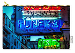 Jazz Funeral And Jester On Bourbon St. Carry-all Pouch