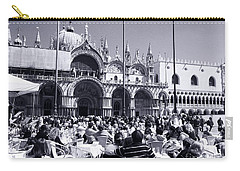 Jazz In Piazza San Marco Black And White  Carry-all Pouch