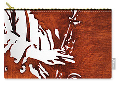Jazz Saxofon Player Coffee Painting Carry-all Pouch
