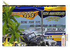 Carry-all Pouch featuring the photograph Jeep Beach 2013 Welcomes All Jeepers by DigiArt Diaries by Vicky B Fuller