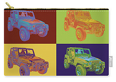 Jeep Wrangler Rubicon Pop Art Carry-all Pouch
