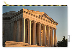 Jefferson Memorial Sunset Carry-all Pouch by Steve Gadomski