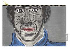 Carry-all Pouch featuring the painting Jeffrey The Coal Miner by Jeffrey Koss