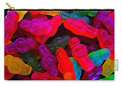 Jelly Baby Abstract 4 Carry-all Pouch by Mark Blauhoefer