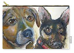 Jena And Dozer  Carry-all Pouch