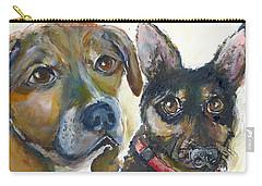 Jena And Dozer  Carry-all Pouch by Bernadette Krupa
