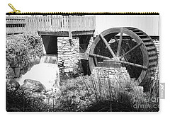 Jenney Mill In Black And White Carry-all Pouch