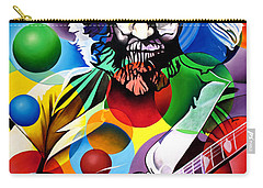 Jerry Garcia In Bubbles Carry-all Pouch by Joshua Morton
