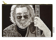 Jerry Garcia String Beard Gutaire Carry-all Pouch by Jack Pumphrey
