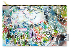 Jerry Garcia Watercolor Portrait.2 Carry-all Pouch