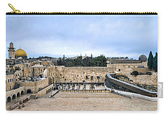 Carry-all Pouch featuring the photograph Jerusalem The Western Wall by Ron Shoshani