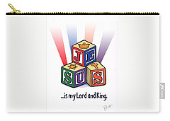 Jesus Is My Lord And King Carry-all Pouch by Jerry Ruffin