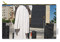 Carry-all Pouch featuring the painting Jesus Wept by Robin Maria Pedrero