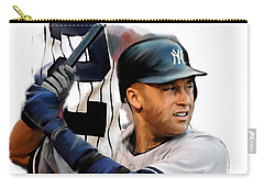 Jeter II  Derek Jeter Carry-all Pouch by Iconic Images Art Gallery David Pucciarelli