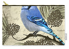 Jeweled Blue Carry-all Pouch by Lourry Legarde