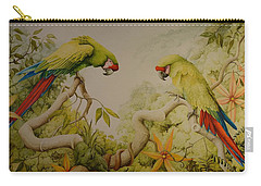 Jewels Of The Rain Forest  Military Macaws Carry-all Pouch