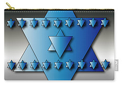 Carry-all Pouch featuring the digital art Jewish Stars by Marvin Blaine