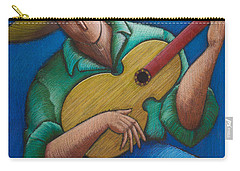 Carry-all Pouch featuring the painting Jibaro Bajo La Luna by Oscar Ortiz