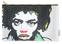 Carry-all Pouch featuring the painting Jimi Hendrix by Stormm Bradshaw