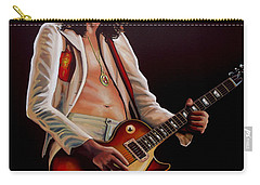 Jimmy Page In Led Zeppelin Painting Carry-all Pouch by Paul Meijering