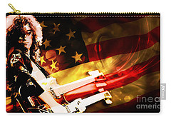 Jimmy Page Of Led Zeppelin Carry-all Pouch by Marvin Blaine