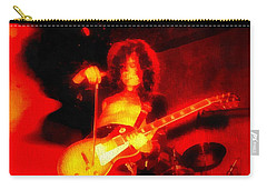 Jimmy Page On Fire Carry-all Pouch by Dan Sproul