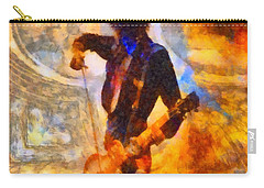 Jimmy Page Playing Guitar With Bow Carry-all Pouch by Dan Sproul