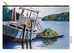Carry-all Pouch featuring the painting Joan II And Mates by Roger Rockefeller