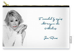 Joan Rivers Carry-all Pouch by Maciek Froncisz