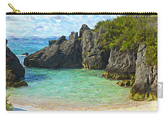 Carry-all Pouch featuring the photograph Jobson Cove Beach by Verena Matthew