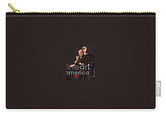 Carry-all Pouch featuring the photograph Joe Cocker by John Telfer
