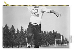 Joe Francis Throwing Football Carry-all Pouch by Underwood Archives