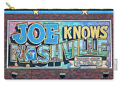 Joe Knows Nashville Carry-all Pouch by Frozen in Time Fine Art Photography