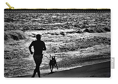 Joggin Wit Dad Carry-all Pouch by Robert McCubbin