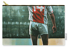 Johan Cruijff Nr 14 Painting Carry-all Pouch by Paul Meijering