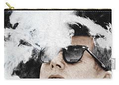 John F Kennedy Cigar And Sunglasses Carry-all Pouch by Tony Rubino