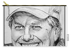 Carry-all Pouch featuring the drawing John Force In 2010 by J McCombie