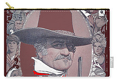 Carry-all Pouch featuring the photograph John Wayne The Shootist Amsel Art Work 1976-2013 by David Lee Guss