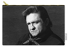 Carry-all Pouch featuring the photograph Johnny Cash Close-up The Man Comes Around Music Homage Old Tucson Az  by David Lee Guss