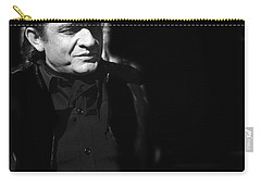 Carry-all Pouch featuring the photograph Johnny Cash Film Noir Homage Old Tucson Arizona 1971 by David Lee Guss