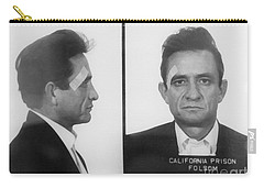 Johnny Cash Folsom Prison Large Canvas Art, Canvas Print, Large Art, Large Wall Decor, Home Decor Carry-all Pouch by David Millenheft