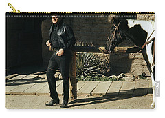 Carry-all Pouch featuring the photograph Johnny Cash Horse Old Tucson Arizona 1971 by David Lee Guss