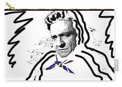 Carry-all Pouch featuring the photograph Johnny Cash Man In White Literary Homage Old Tucson Arizona 1971-2008 by David Lee Guss
